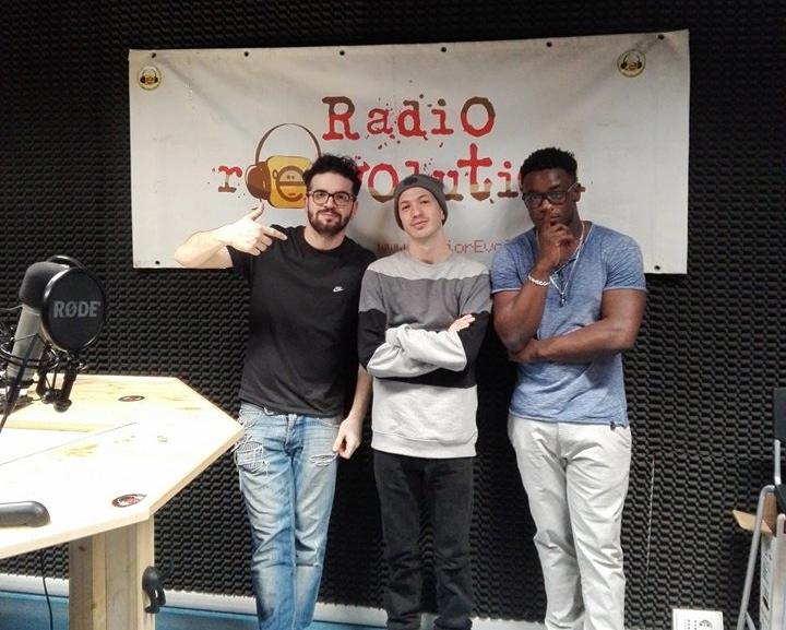 Speaker R al Cubo e Dj Over, ospite del programma Rap R al Cubo di RadiorEvolution